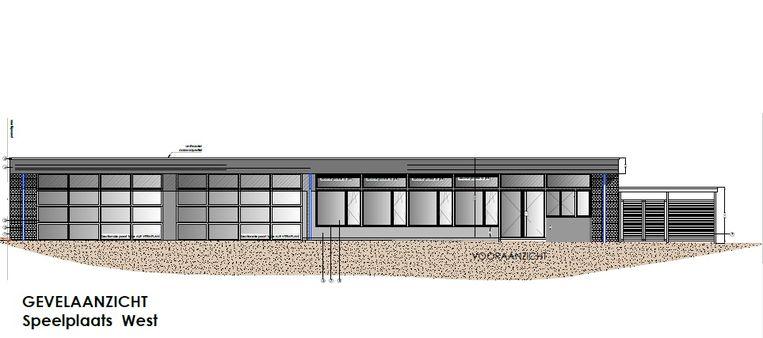 Het chalet van het kleuterschooltje in de Bosstraat krijgt een grondige renovatie.