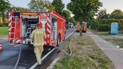 Brandweer blust brandje aan Olenseweg