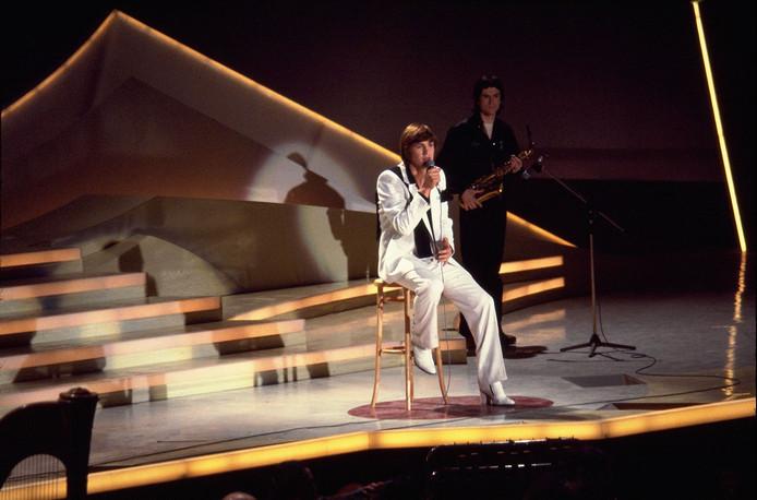 EUROVISIE SONGFESTIVAL 1980 Op het podium: Johnny Logan –