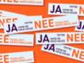 De sticker tegen anti-abortusdrukwerk.