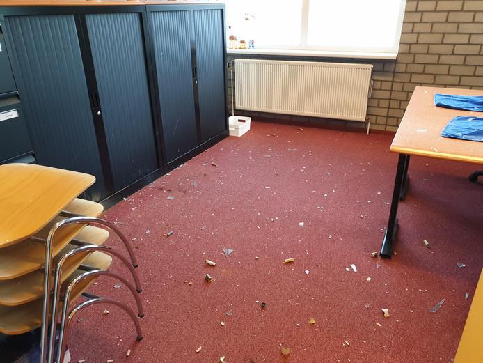 De schade bij basisschool De Rietslenke wordt geschat op zo'n 8.000 euro.