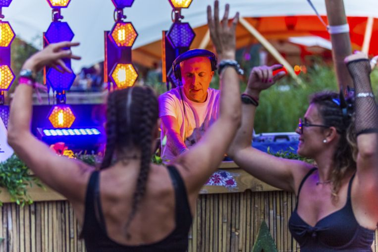Lee Burridge op de Leaf Stage.