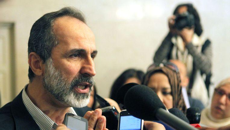 De leider van de Syrische Nationale Coalitie, Moaz al-Khatib Beeld ap