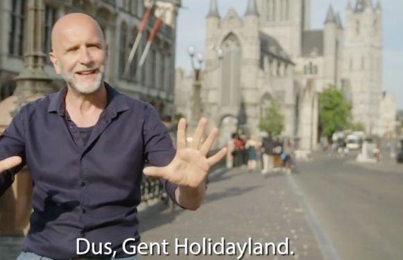 """Volgens Nic Balthazar is Gent misschien niet de schoonste stad van 't land, """"maar 't zal toch niet veel schelen"""""""