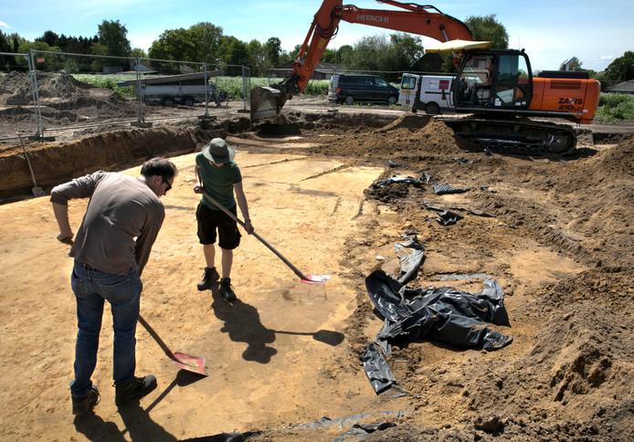 De archeologische opgraving in Veldhoven.