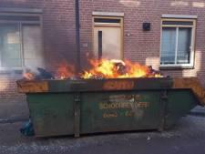 Woning raakt beschadigd bij containerbrand in Gorinchem