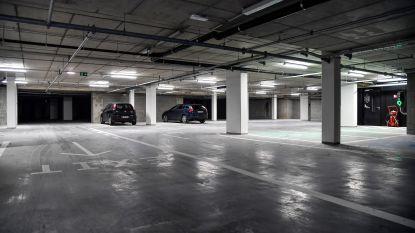 Werken aan ondergrondse parking Nieuwstraat