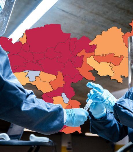 KAART | Vijf coronadoden; Gelderland kleurt donkerrood door besmettingen