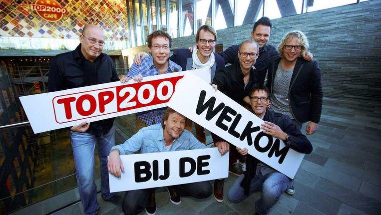 De presentatoren van de top 2000. Beeld anp