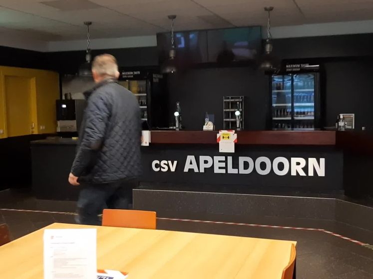 Geen publiek en de kantine dicht, ook bij CSV Apeldoorn
