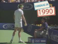 John McEnroe wordt gediskwalificeerd op Australian Open