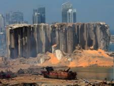 Les ravages du port de Beyrouth vus du ciel