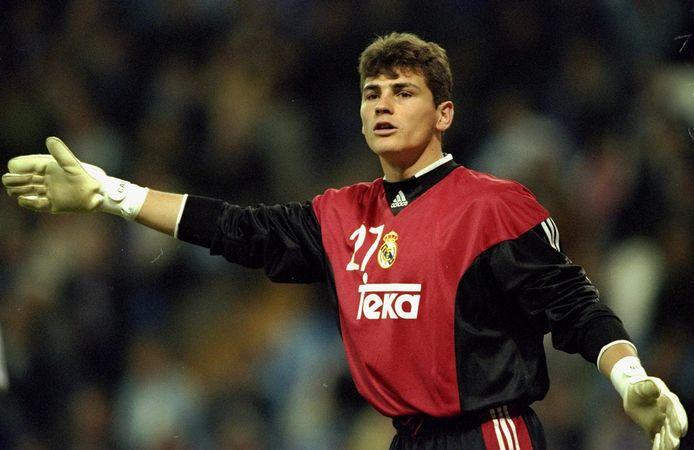 Iker Casillas op 14 maart 2000 als keeper van Real.