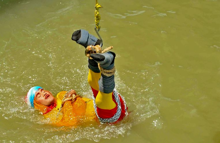 De illusionist Chanchal Lahiri, bekend als 'Jadugar Mandrake', kwam helaas niet meer boven water.