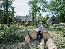 Bij de Carolinahoeve heeft de tornado een slagveld aangericht