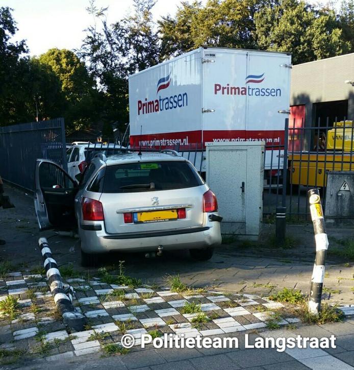 Verkeersongeluk op N282 bij Hulten.