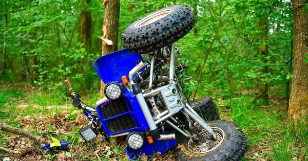 Man zwaargewond door ongeval met quad in bossen Heeze.