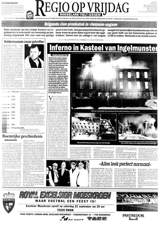 De pagina van september 2001.