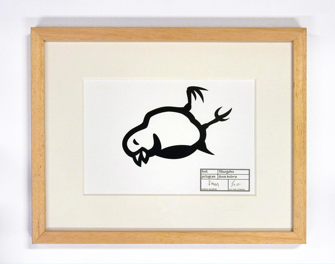 Knòrrie, de dode kanarie, symboliseert volgens de Tilburgse kunstenaars Ivo van Leeuwen en Sander Neijnens de kunst en cultuur die in Brabant stevig onder druk staan. Ze hebben het protestpictogram aangeboden aan Wil van Pinxteren, gedeputeerde van vrije tijd, cultuur en sport.