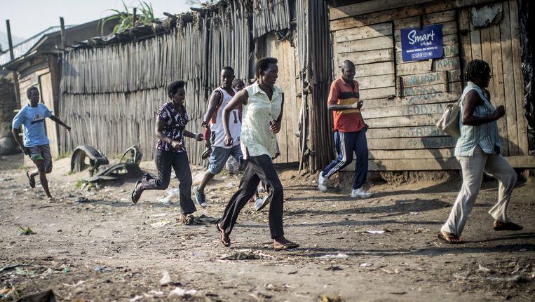Het protest tegen de derde ambtstermijn van de Burundese president loopt hoog op.