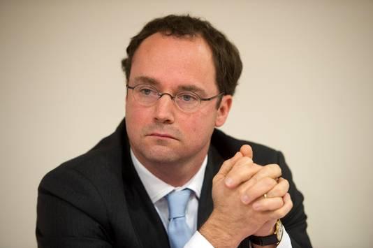 Willem de Boer van de MC Groep tijdens de persconferentie over de overname van het Slotervaartziekenhuis door zorgondernemer Loek Winter.