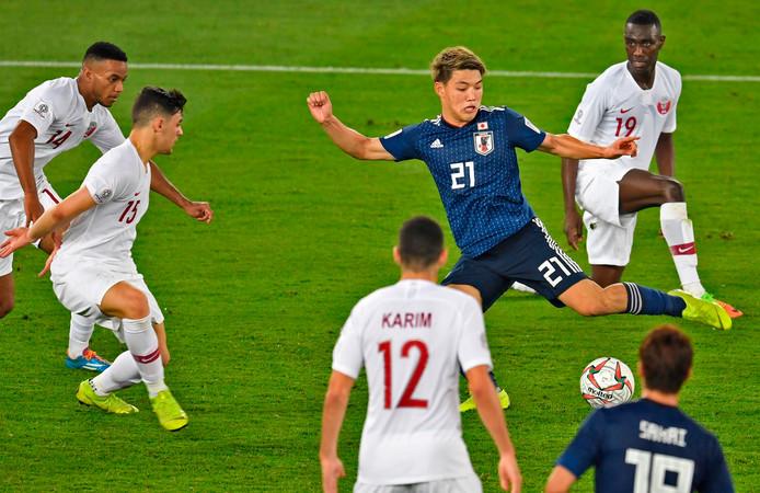 Groningen-speler Ritsu Doan speelde het hele duel mee.