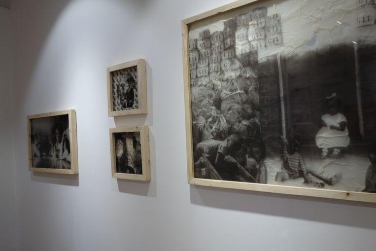 Werk van Ndidi Dike in de nieuwe Alliance Française in Lagos. Beeld wb
