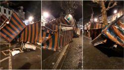 Na de sneeuw, nu hinder door wind: evenementen afgelast, kerstmarkt op een hoopje geblazen in Zottegem