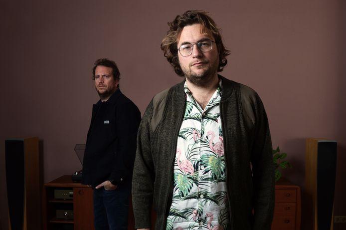 Niels Verweij en Derrick van Schie (rechts). Foto Robin Burger