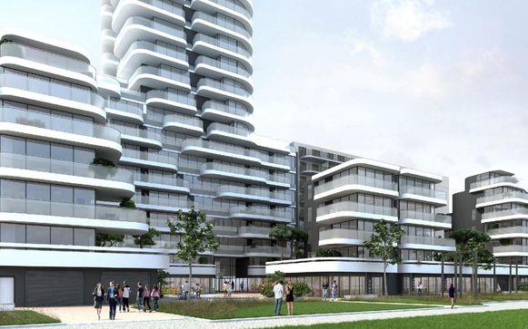 Zo zou het project 'Cond'OR' langs de Nieuwpoortse Zeedijk er uit kunnen zien.