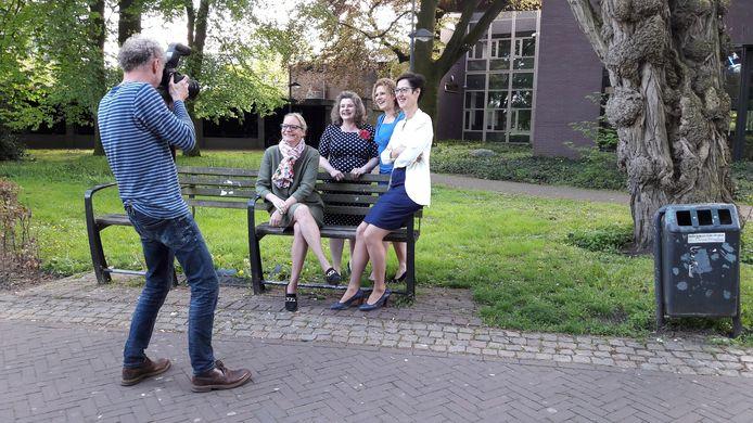 De vier vrouwelijke wethouders in Gemert-Bakel: Anke van Extel, Wilmie Steeghs, Inge van Dijk en Miranda de Ruiter
