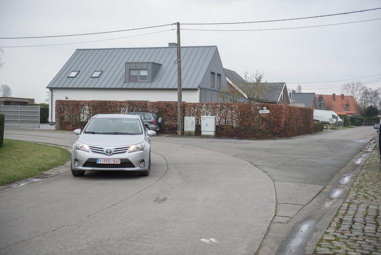 Het kruispunt Nerethstraat-Ouwegemstraat, waar de werkzaamheden op 12 februari starten.