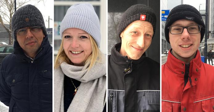 Aminollhah Azizi, Marianne Luijt , Mardie van Silfhout en David Blok.