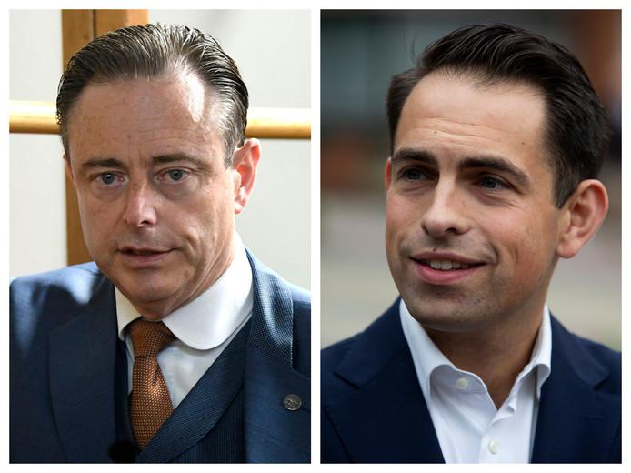 Bart De Wever Tom Van Grieken, présidents de la N-VA et du Vlaams Belang.