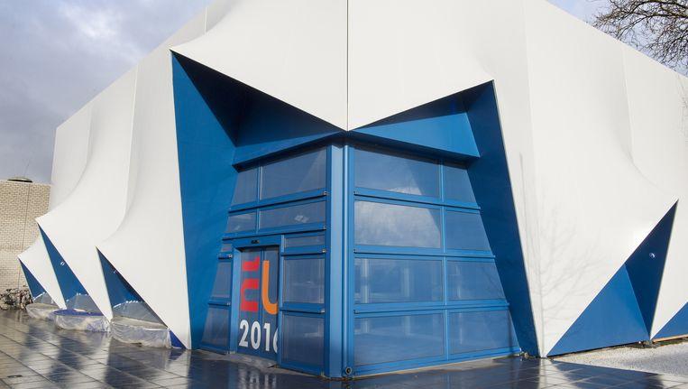 Het Europa-gebouw waar de ambtelijke vergaderingen en andere (conferentie)evenementen zullen plaatsvinden. Beeld Flickr/EU2016NL