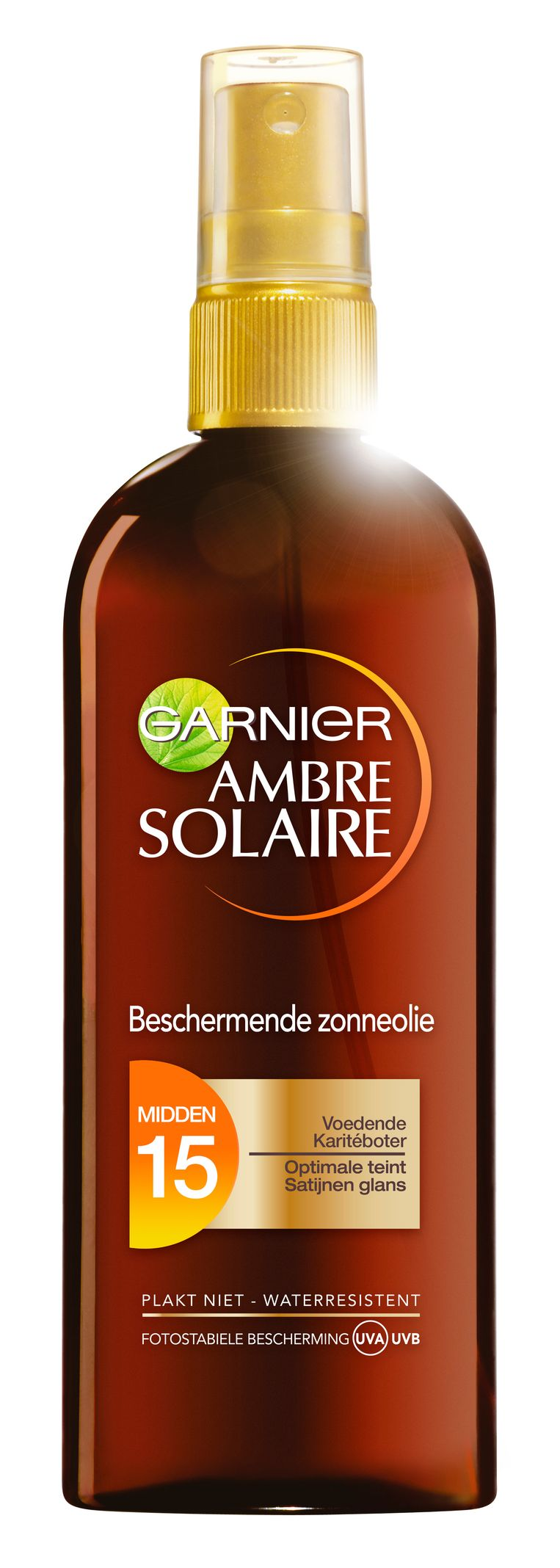 Olie + Low: Garnier Ambre Solaire Zonneolie SPF15, € 17,50 Beeld null