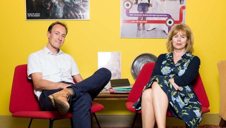 Stan van Engelen en Karen de Bok vormen samen de hoofdredactie televisie bij de VPRO. Beeld Ivo van der Bent