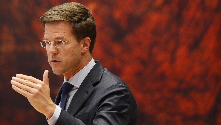 Premier Mark Rutte. Beeld anp