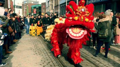 VIDEO: Zo vieren Chinezen in Antwerpen hun Nieuwjaar