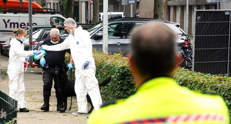 De onschuldige huisvader Stefan Regalo Eggermont werd in 2014 in zijn auto in de Conradstraat doodgeschoten. Beeld ANP