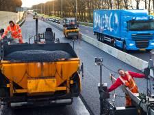 Nieuw asfalt maakt de A28 bij Harderwijk ietsje stiller