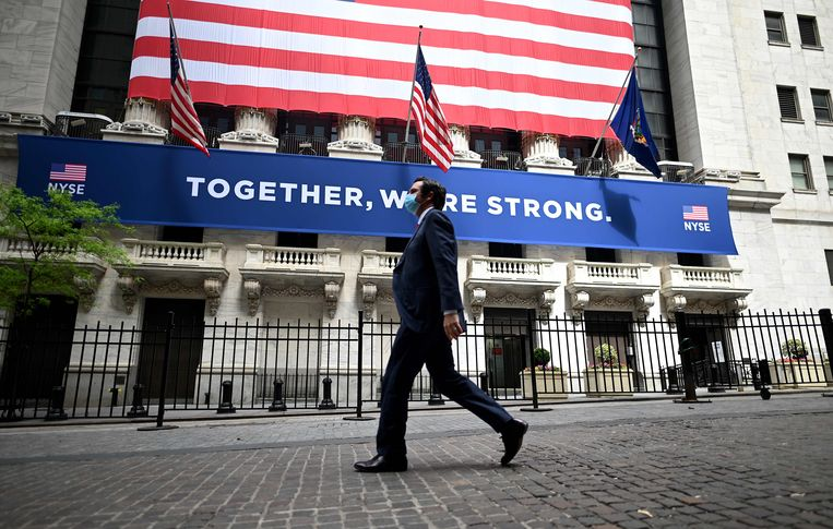 Wall Street in New York. Beeld AFP