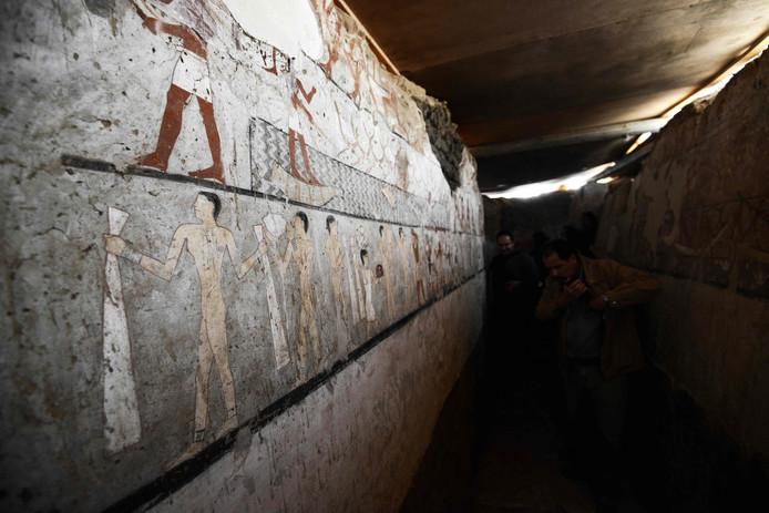 De beschilderingen in de tombe van Haptet zijn uitzonderlijk goed bewaard gebleven