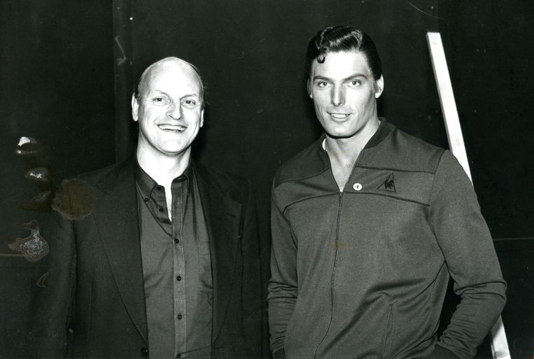 Frans Afman met Christopher Reeve Beeld The Hollywood Banker