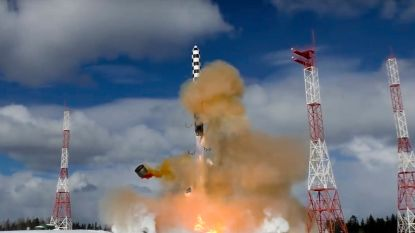 Rusland test zware 'Satan 2'-raket te midden van hoogoplopende spanningen met het westen