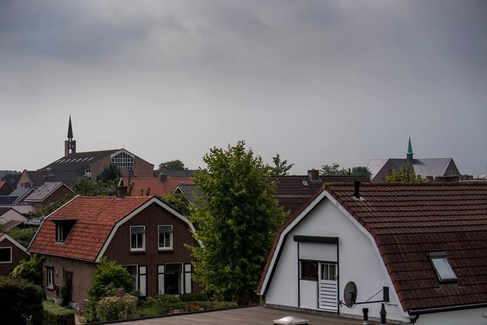 Foto ter illustratie: de dorpskern van Opheusden.