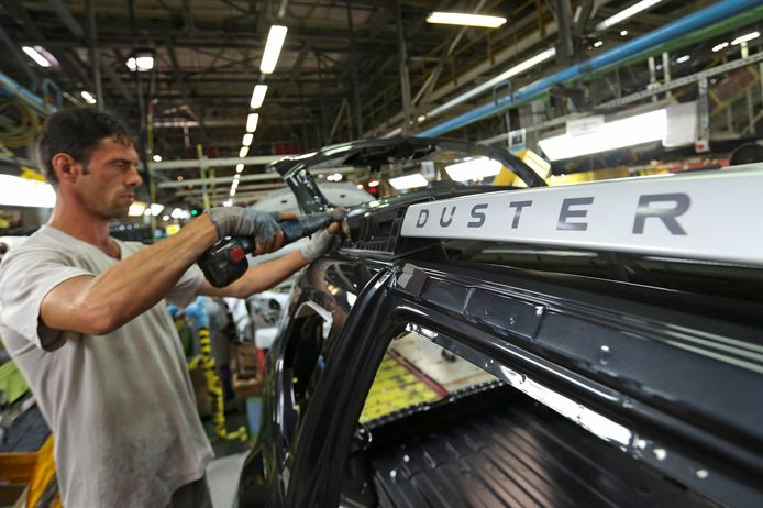 De productielijn  van Dacia in Pitesti, Roemenië.
