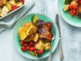 Recept van de dag: Gekarameliseerde kip met courgette en tomaat