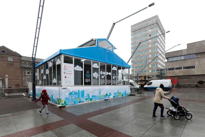 De installatie op het Stadhuisplein in Eindhoven.