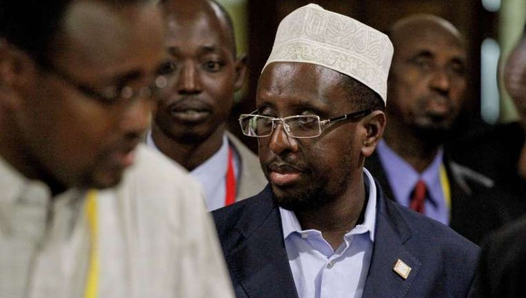 De Somalische president Sheikh Sharif Sheikh Ahmed
